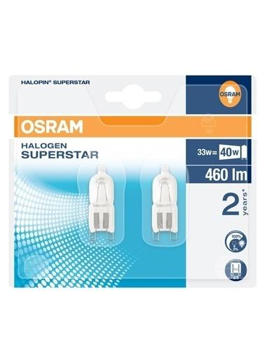 Osram 10 Adet  G9 Halojen 220V 33W = 40W 460 Lümen Halopın Renksiz